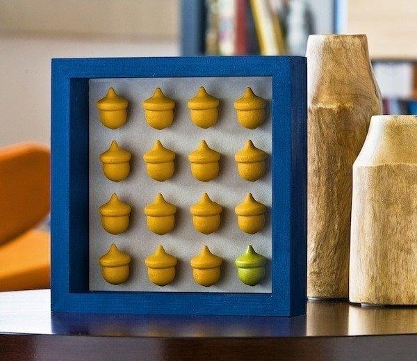 Acorn craft - make a fall shadowbox
