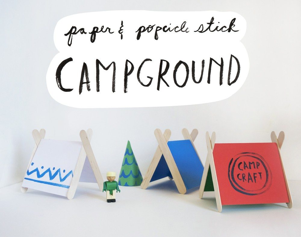popsicle sticks and paper tents from mermag.com