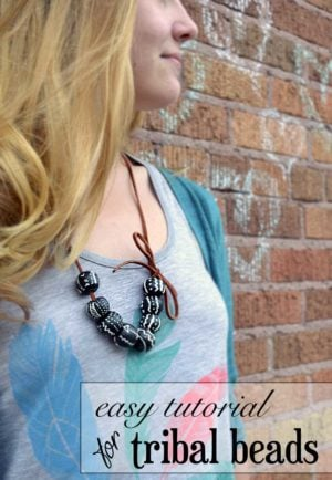 an easy tutorial for tribal beads | www.nelliebellie.com |#crafts #beads #jewelry #tribal