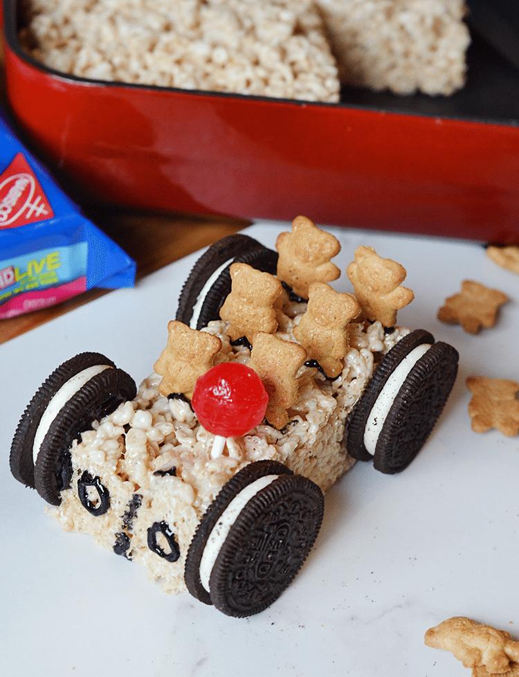 Rice Krispie Treats Car: a fun, creative idea for a party or treat!