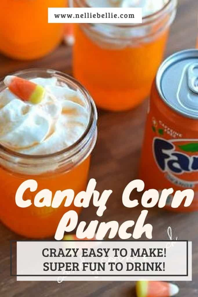 only 3 easy ingredients to make this delicious and fun candy corn punch. Perfect for Halloween parties, snacks, and after-school!