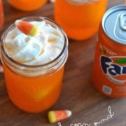 candy corn punch recipe | nelliebellie.com |#beverages #recipes #halloween