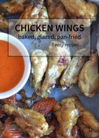 three classic chicken wing recipes