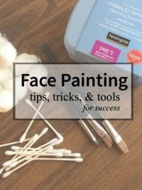 Face painting tips, tricks, & tools.
