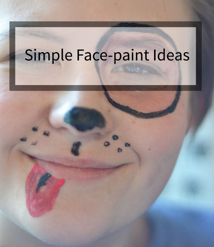 Face Paint can be easy to do, if you choose simple designs and good paints! #facepaint #Halloween