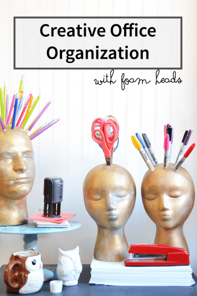 how to make foam head organizers
