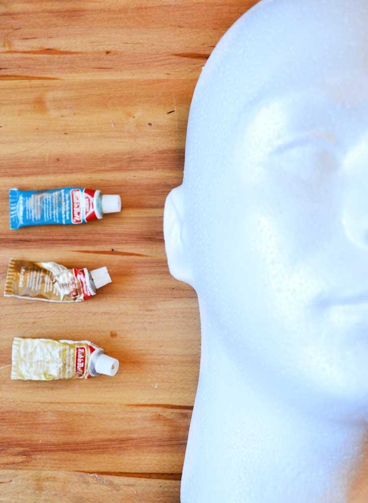 Office organization using foam heads from FloraCraft | tutorial #organization #MakeitFunCrafts #crafts