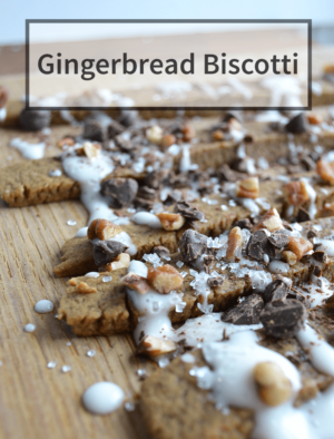 Make gingerbread biscotti a great holiday treat that is easy to make!