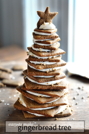 Easy to make a gingerbread tree! No funny shapes or hard to find tools needed. | nelliebellie.com