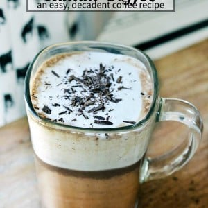 A fantastic italian coffee recipe (also known as Bicerin). Easy to make and oh so decadent!   nelliebellie.com