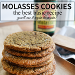 The Best Molasses Cookie recipe, you'll use it again and again! | nelliebellie.com
