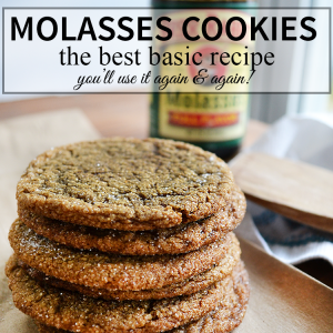 The Best Molasses Cookie recipe, you'll use it again and again!   nelliebellie.com