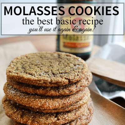 the BEST Molasses cookies