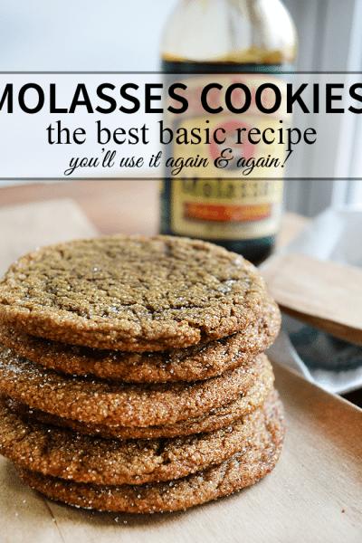 the BEST Molasses cookies