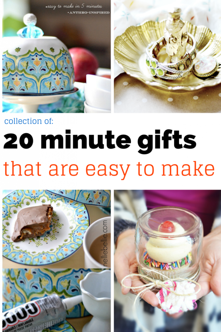 a collection of crafts that can be made in 20 minutes or less and make fantastic Christmas gifts! | nelliebellie.com Christmas gifts, gift ideas, Christmas