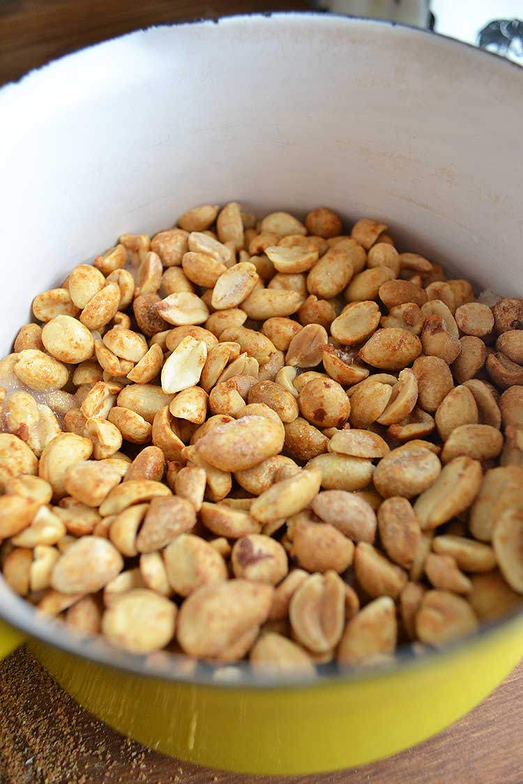 How to make candied peanuts. An easy, full tutorial from nelliebellie.com