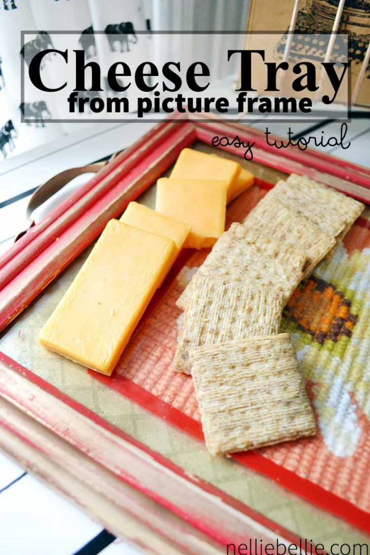 Make a gift of a cheese tray with this easy tutorial. All you need is a picture frame and a few other supplies and you are on your way to a great gift!