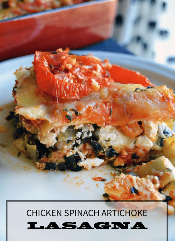 Chicken Spinach Artichoke lasagna