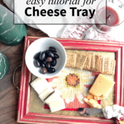 make your own cheese tray from a frame. An easy to follow tutorial for a great gift idea! | nelliebellie.com