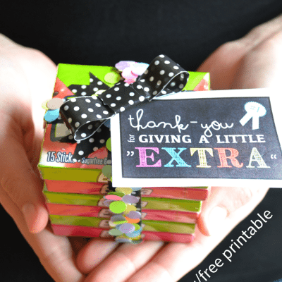 how to make a quick thank you gift (free printable)
