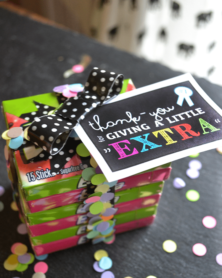 """""""Extra"""" gum is a great gift idea, particularly with the concept that when you give a little extra, you'll get a little extra. 