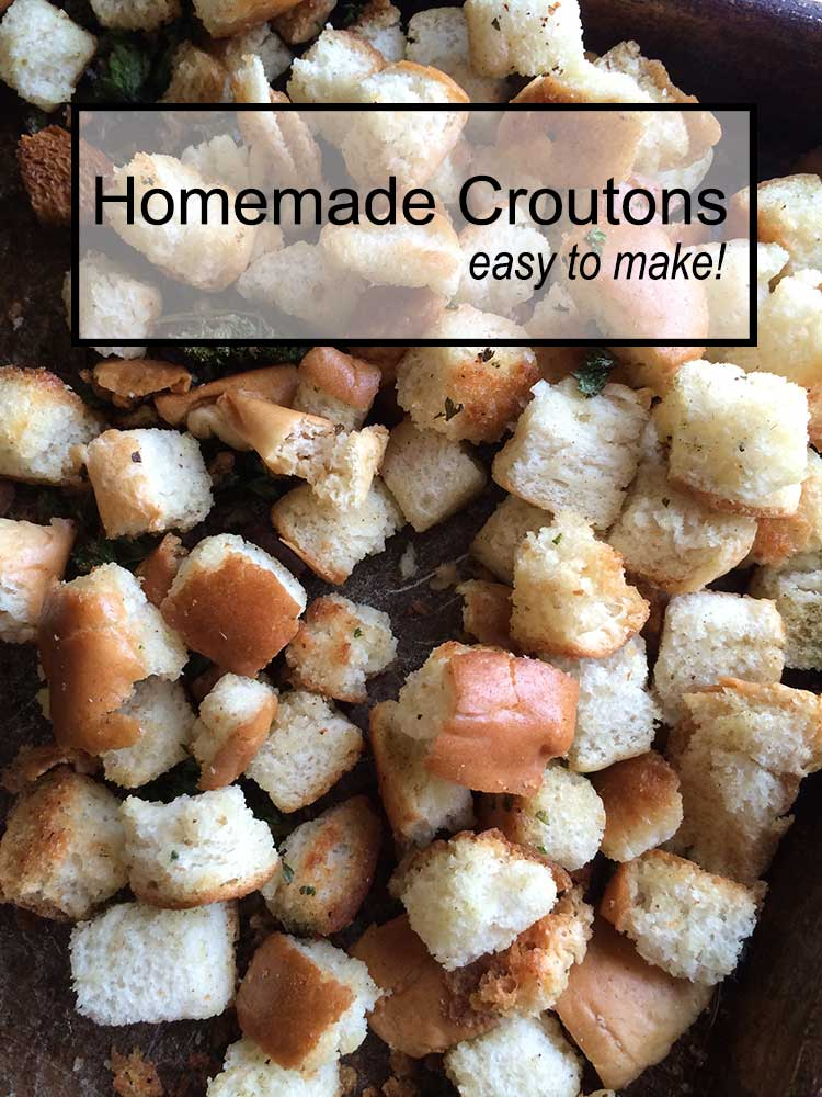Making homemade croutons is easy to do and a great option for those that need to be gluten-free.