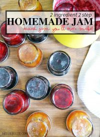 make homemade jam without pectin with only 2 ingredients and 2 steps. Easy to make! | nelliebellie.com