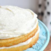 homemade white cake recipe is the best, simplest homemade white cake. | nelliebellie.com