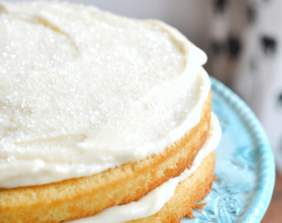 homemade white cake recipe is the best, simplest homemade white cake. | nelliebellie.com