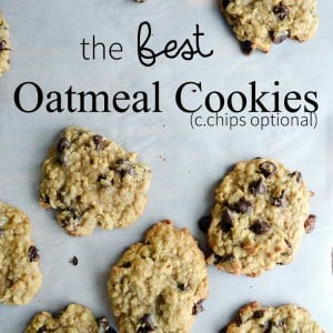 the BEST oatmeal cookie recipe. This version is made with chocolate chips which is our favorite version of oatmeal cookies.   nelliebellie.com oatmeal chocolate chip cookies, oatmeal cookies, cookie recipe