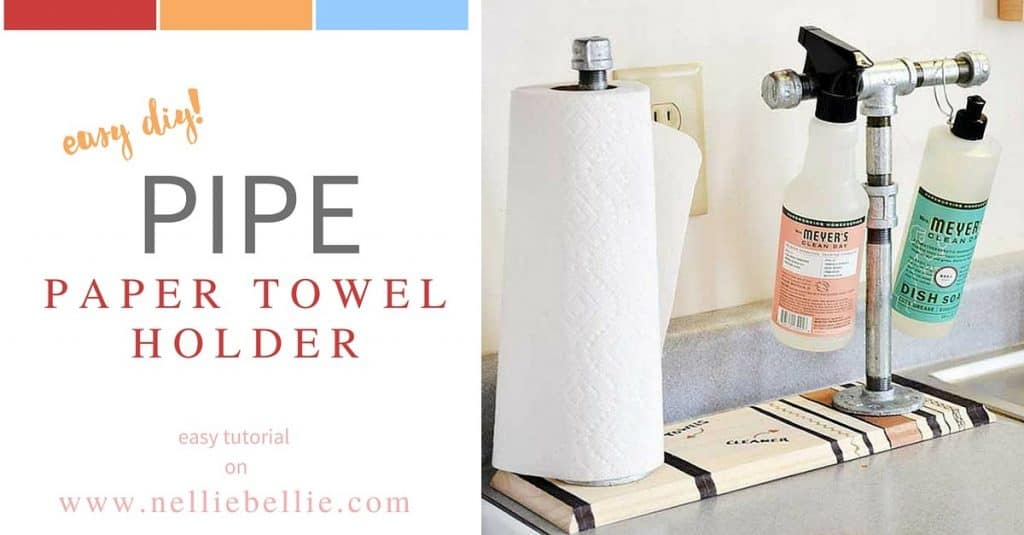 Kitchen Sink Cleaner >> DIY paper towel holder | Make your own paper towel holder in no time!