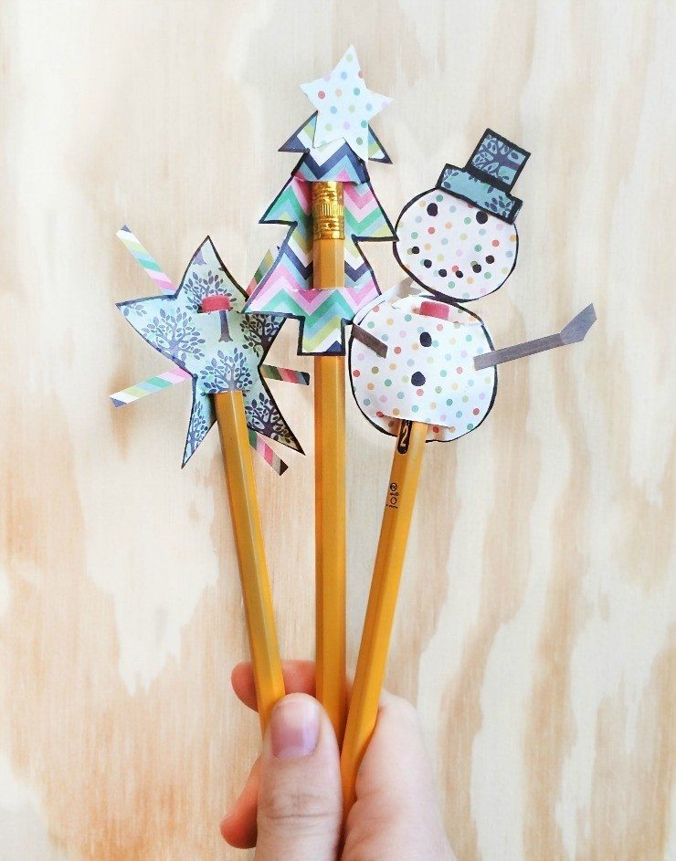 How to make Christmas pencil toppers