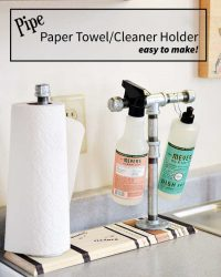 how to make a Pipe Paper Towel/Cleaner holder