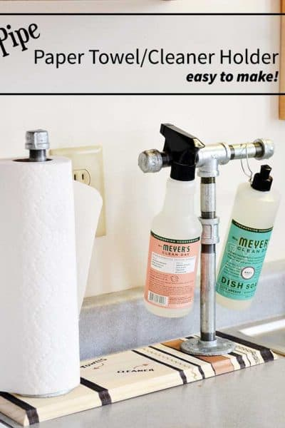 Pipe Paper Towel/Cleaner holder