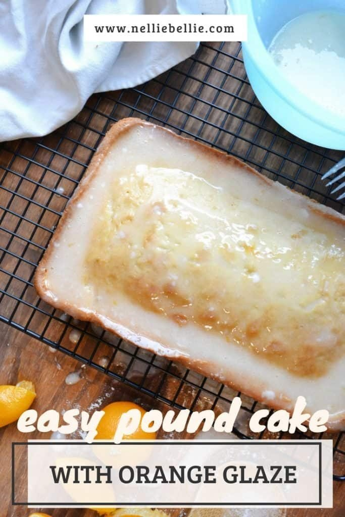 Pound Cake With Boiled Glaze