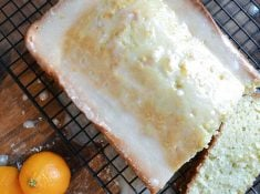 an easy recipe for homemade pound cake with orange glaze. cake, recipes, homemade, pound cake | nelliebellie.com