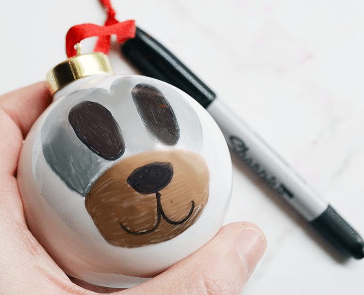 easy to follow tutorial (video tutorial included) for 4 woodland ornaments using Sharpie Metallics | nelliebellie.com