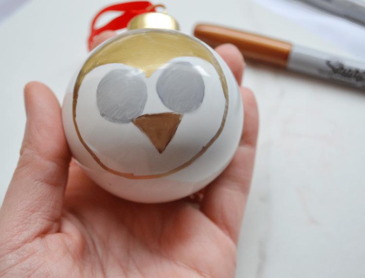 sharpie woodland animal ornaments owl-step4