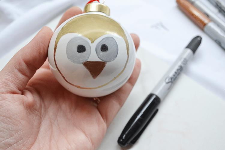 woodland animal ornaments owl