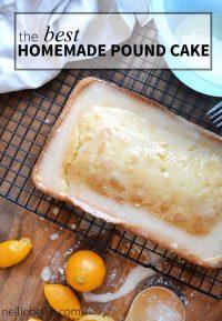 classic pound cake recipe (with easy orange glaze)