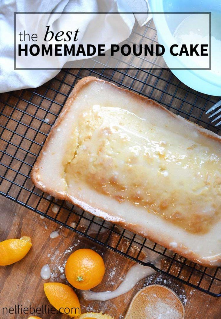 Classic Pound Cake Recipe With Easy Orange Glaze
