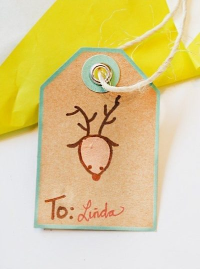 How to make thumbprint gift tags