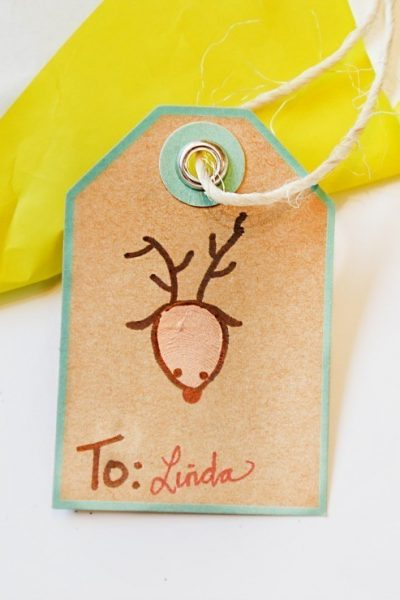 How to make thumbprint gift tags