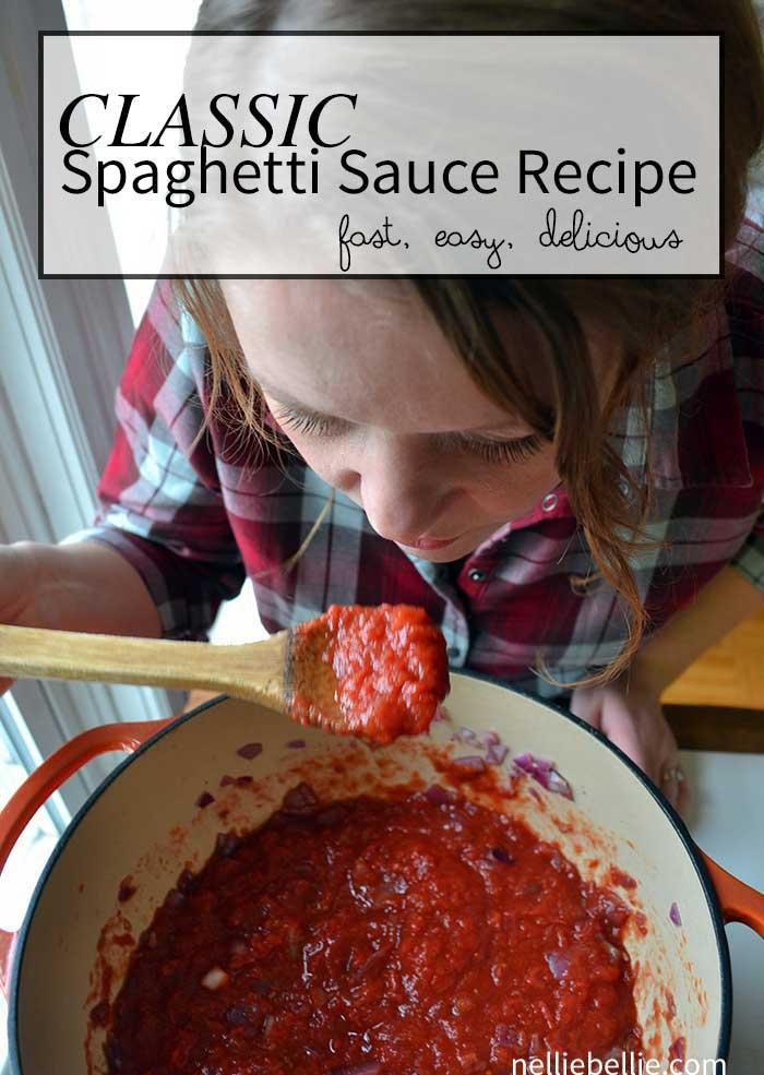 classic spaghetti sauce recipe that you'll make again and again! #MeatballMasters