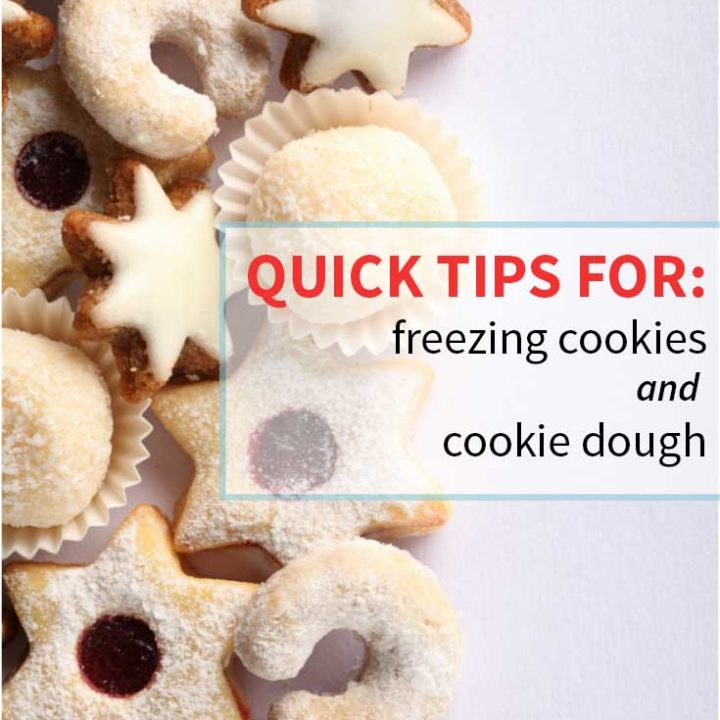 quick tips for freezing Christmas cookies, freezing baked cookies, freezing cookie dough, freezing cookies, From nelliebellie.com
