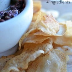 easy to make homeade rice chips. gluten-free, rice chips