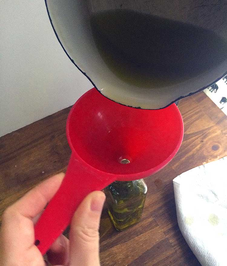 how to infuse oil step3