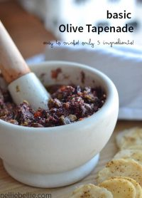 How to make olive tapenade, a basic olive tapenade recipe. healthy snack ideas