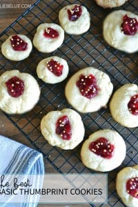 a fantastic recipe for the classic Thumbprint cookie from NellieBellie.com holiday recipes, Christmas cookies, cookies, thumbprint cookie recipe