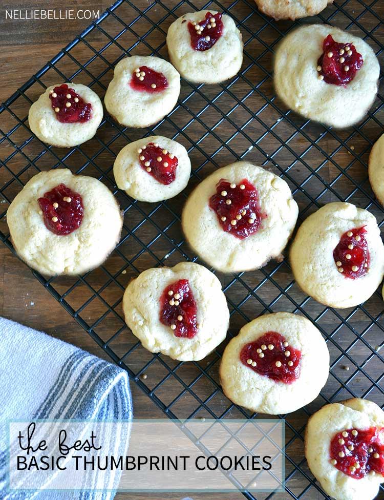 Best jam thumbprint cookies recipe